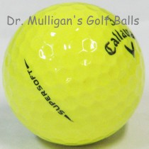 Callaway Supersoft Yellow Mint Used Golf Balls