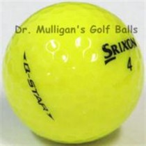 Srixon Q Star Yellow Mint Used Golf Balls