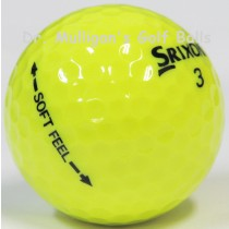 Srixon Soft Feel Yellow Mint Used Golf Balls