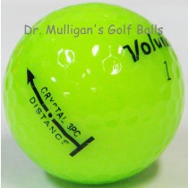 Volvik Crystal 3 Piece Green Mint Used Golf Balls