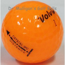 Volvik Crystal 3 Piece Orange Mint Used Golf Balls