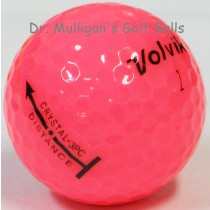Volvik Crystal 3 Piece Pink Mint Used Golf Balls