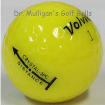 Volvik Crystal 3 Piece Yellow Mint Used Golf Balls