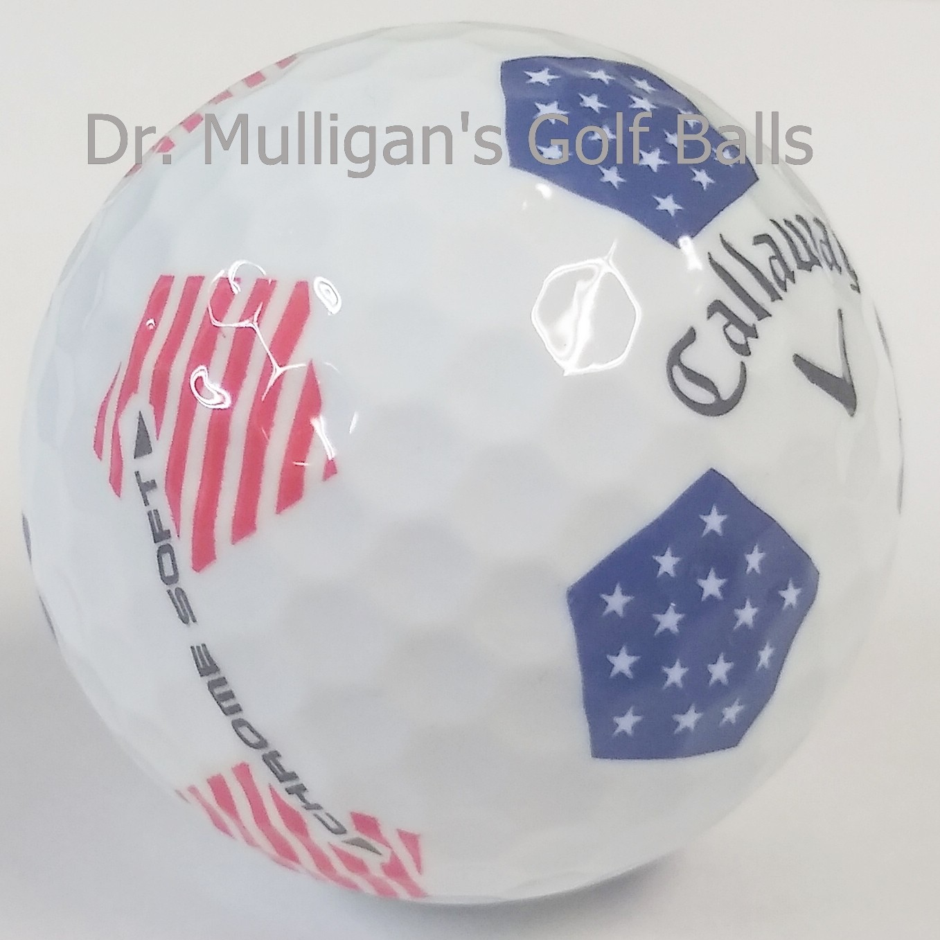 Callaway Chrome Soft TruVis Red White And Blue Mint