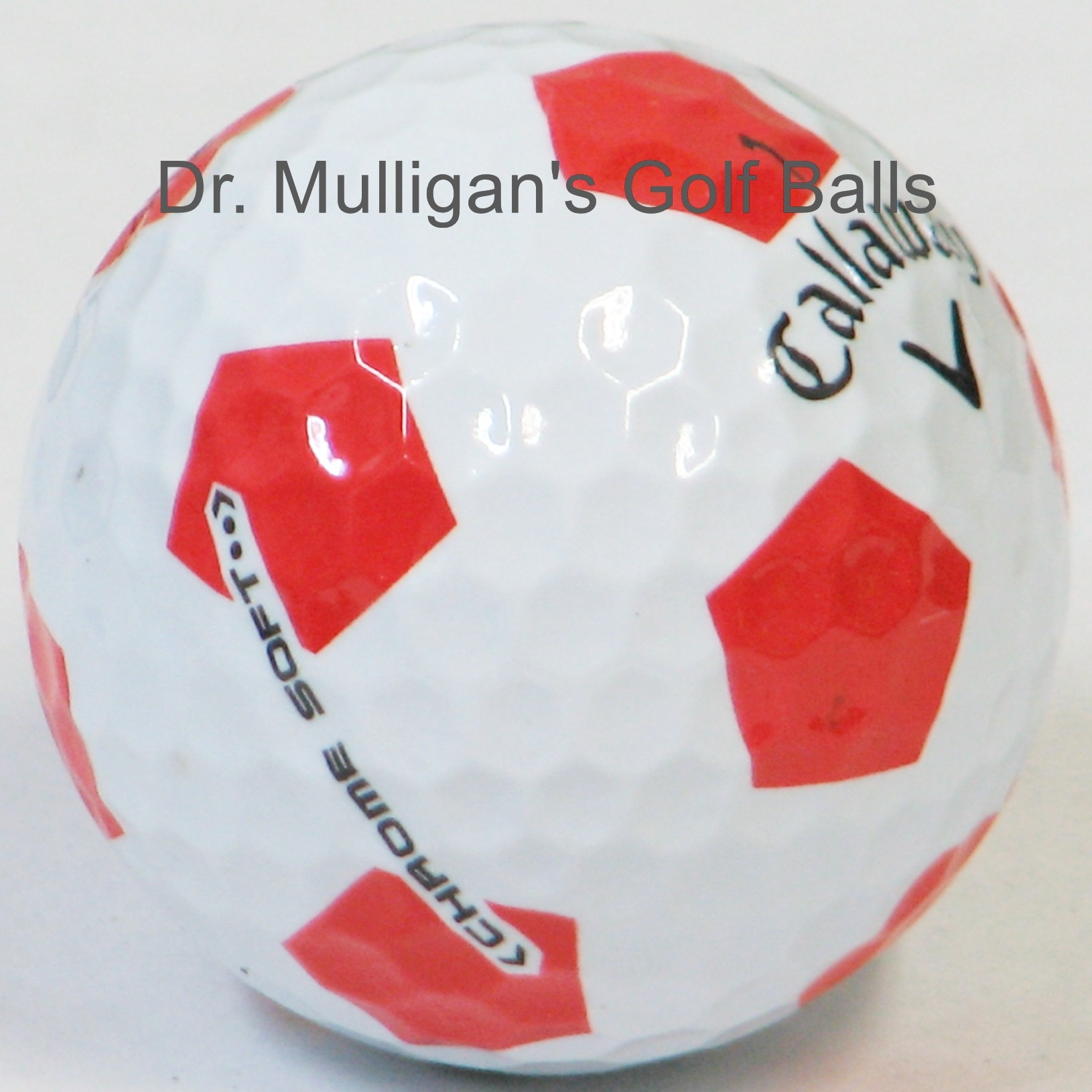 Callaway Chrome Soft TruVis White And Red Mint