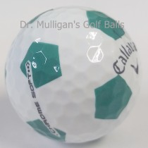 Callaway Chrome Soft TruVis White And Green Mint