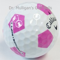 Callaway Chrome Soft TruVis White And Pink Mint